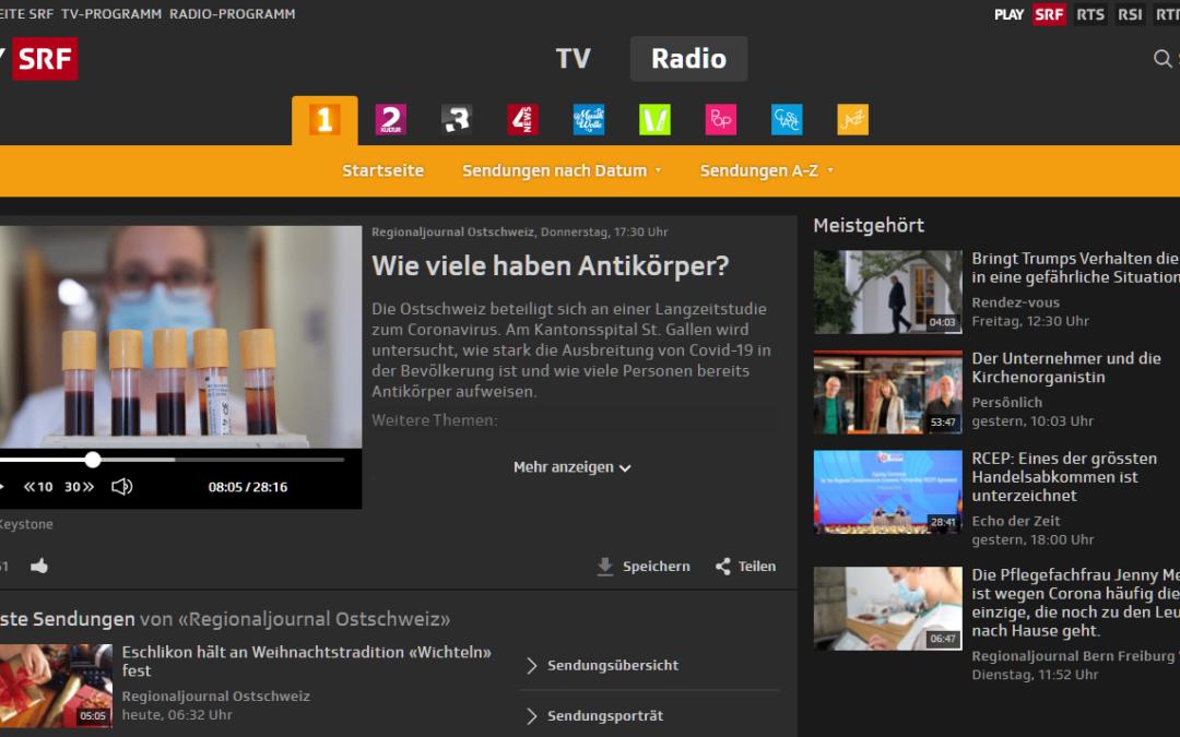 Interveiw Regionaljournal Ostschweiz